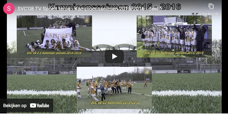 SVC'08 TV spoelt terug -Kampioensseizoen 2015/2016 - deel 1