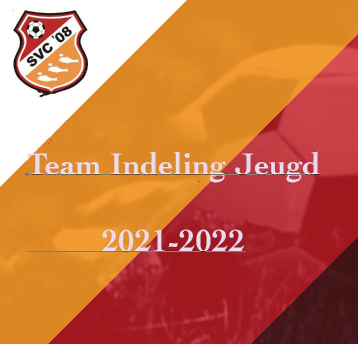Teamindelingen Jeugd 2021-2022